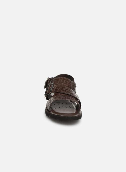 Sandales et nu-pieds Geox U GLENN C U92V2C Marron vue portées chaussures