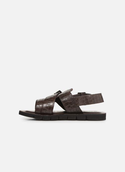 Sandales et nu-pieds Geox U GLENN C U92V2C Marron vue face