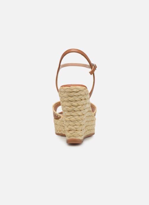 Sandales et nu-pieds Unisa MALLORCA STY Marron vue droite