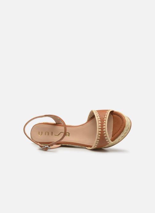 Sandales et nu-pieds Unisa MALLORCA STY Marron vue gauche