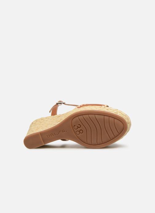 Sandales et nu-pieds Unisa MALLORCA STY Marron vue haut