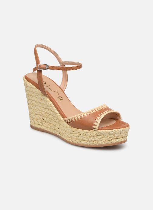 Sandales et nu-pieds Unisa MALLORCA STY Marron vue détail/paire