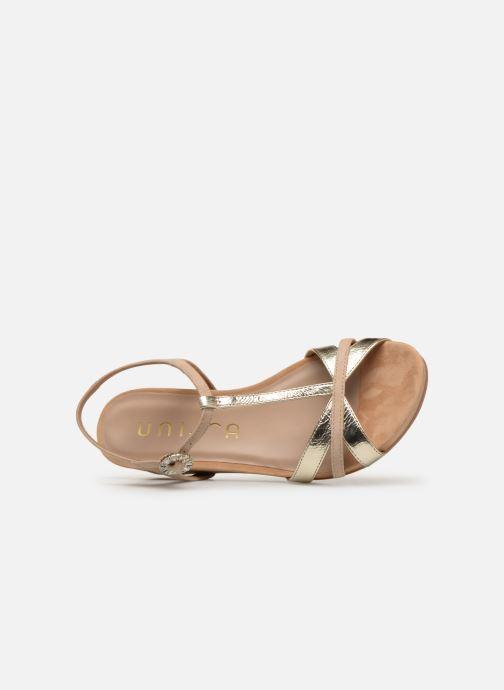 Sandales et nu-pieds Unisa BIRINA Beige vue gauche