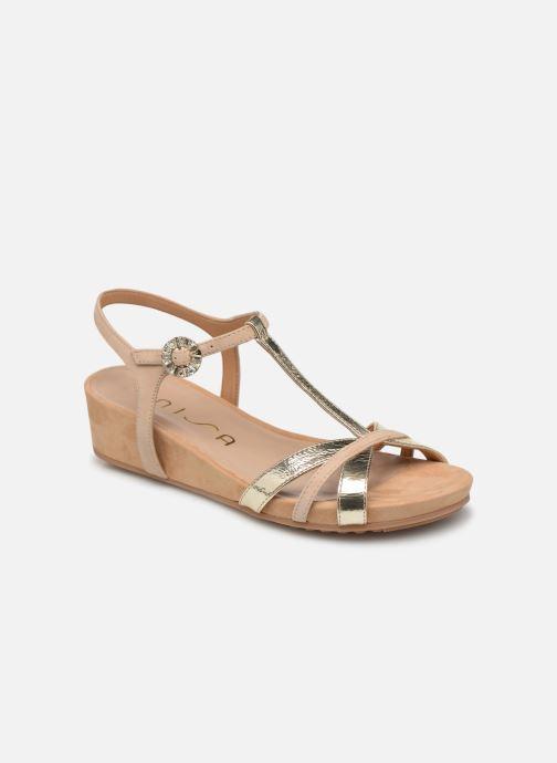 Sandales et nu-pieds Unisa BIRINA Beige vue détail/paire