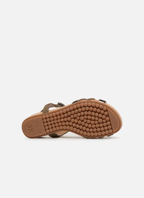 Sandales et nu-pieds Unisa BIRINA Vert vue haut