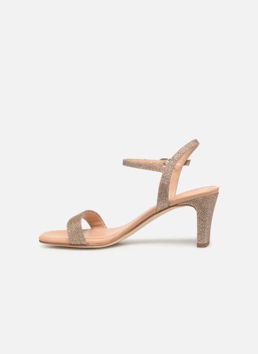 Sandales et nu-pieds Unisa MABRE Or et bronze vue face