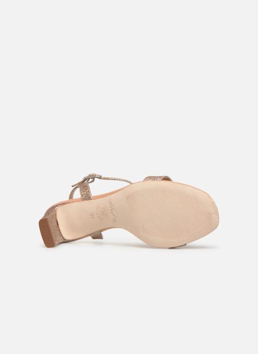 Sandales et nu-pieds Unisa MABRE Or et bronze vue haut