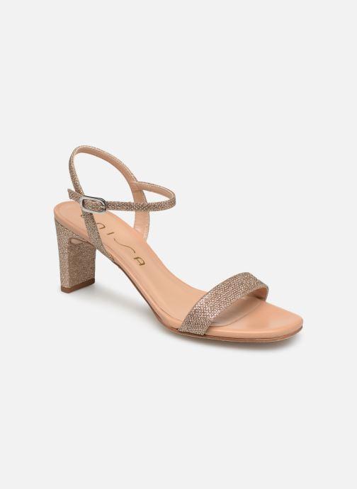 Sandales et nu-pieds Unisa MABRE Or et bronze vue détail/paire