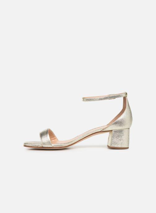 Sandales et nu-pieds Unisa KORELLA Or et bronze vue face