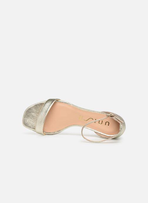 Sandales et nu-pieds Unisa KORELLA Or et bronze vue gauche