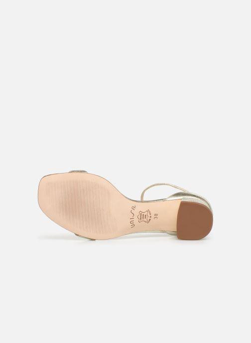 Sandales et nu-pieds Unisa KORELLA Or et bronze vue haut