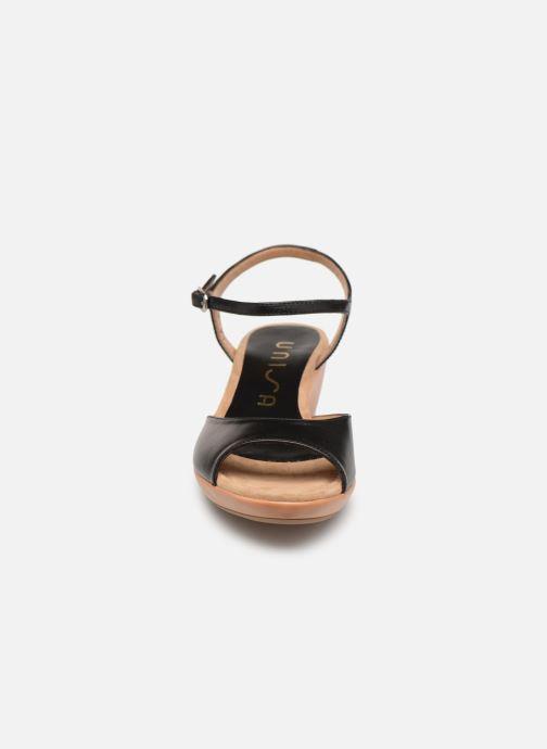 Sandales et nu-pieds Unisa ISMO Noir vue portées chaussures