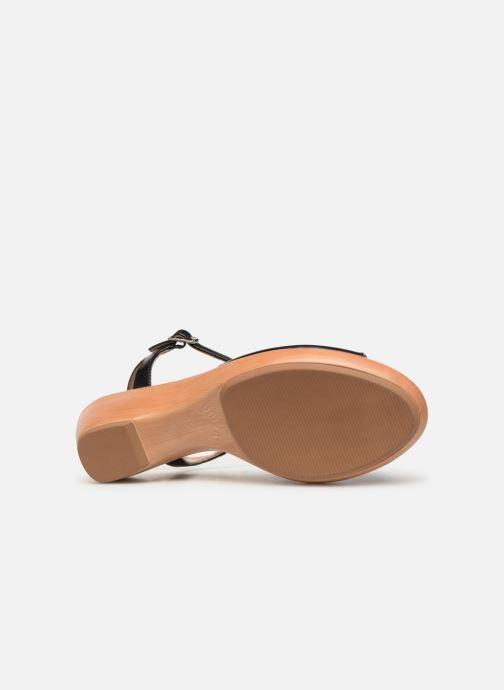 Sandales et nu-pieds Unisa ISMO Noir vue haut