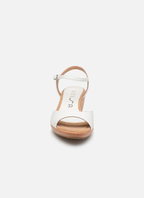 Sandales et nu-pieds Unisa ISMO Blanc vue portées chaussures
