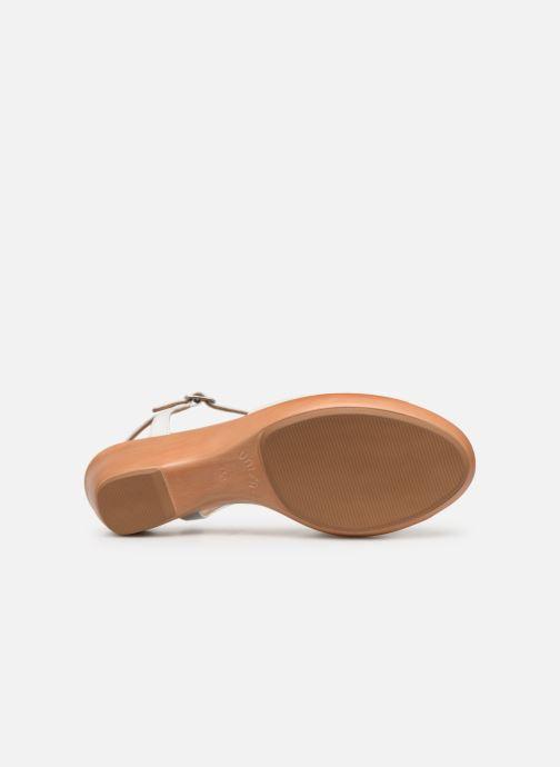 Sandales et nu-pieds Unisa ISMO Blanc vue haut
