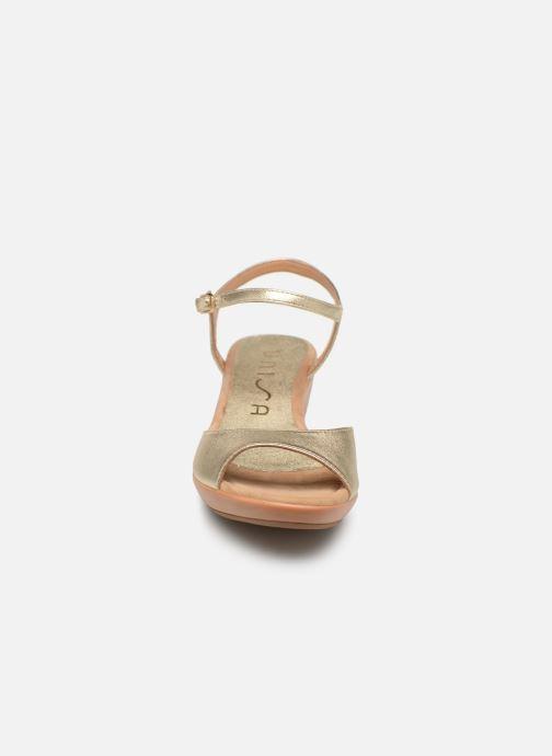 Sandales et nu-pieds Unisa ISMO Or et bronze vue portées chaussures