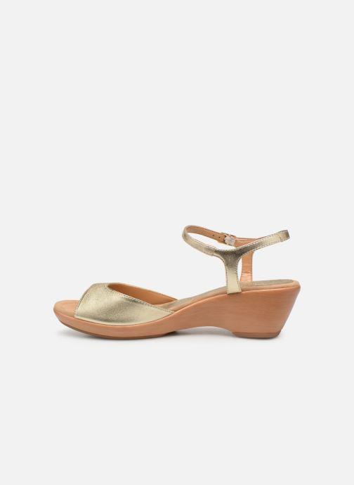 Sandales et nu-pieds Unisa ISMO Or et bronze vue face