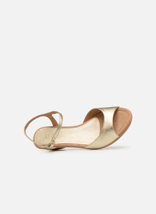 Sandales et nu-pieds Unisa ISMO Or et bronze vue gauche