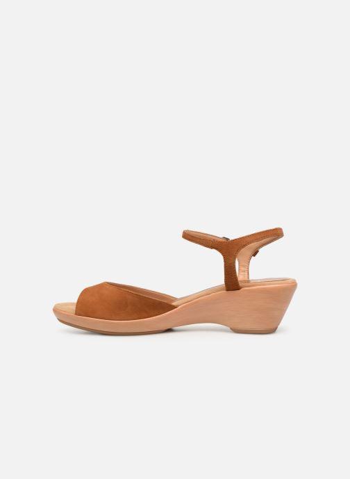 Sandales et nu-pieds Unisa ISMO Marron vue face