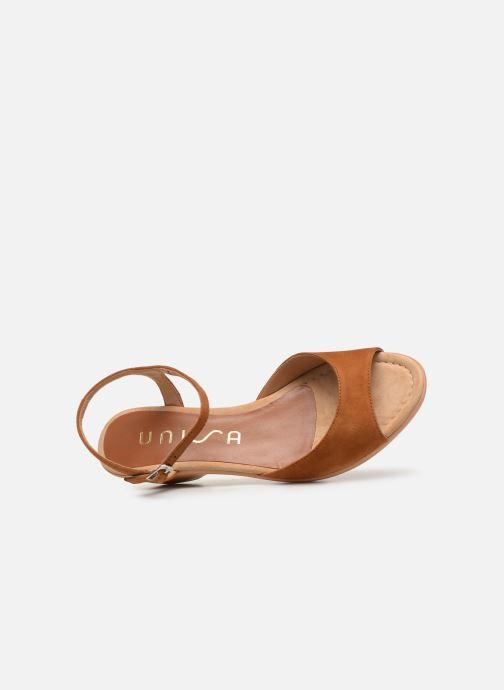 Sandales et nu-pieds Unisa ISMO Marron vue gauche