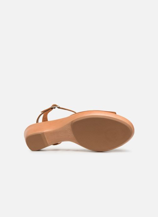 Sandales et nu-pieds Unisa ISMO Marron vue haut