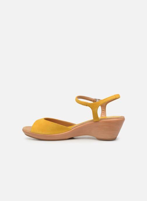 Sandalen Unisa ISMO gelb ansicht von vorne