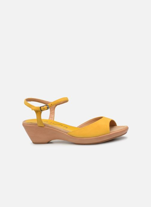 Sandales et nu-pieds Unisa ISMO Jaune vue derrière