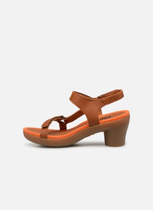 Sandales et nu-pieds Art Alfama 1472 Marron vue face