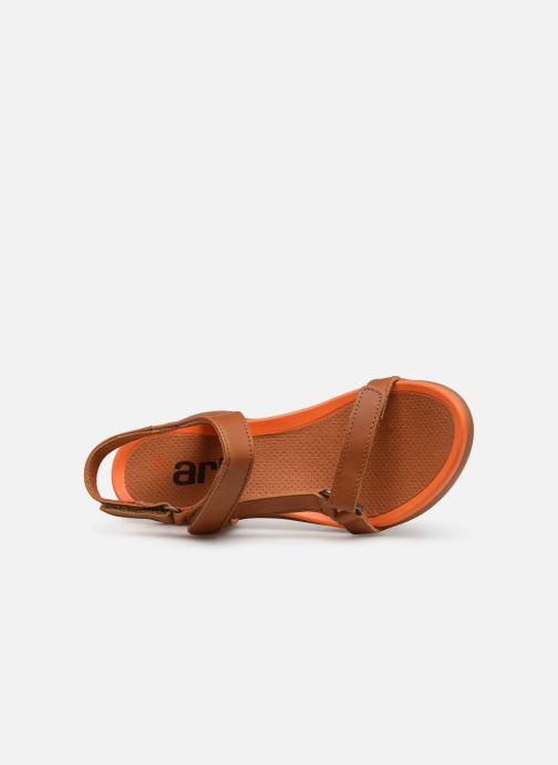 Sandales et nu-pieds Art Alfama 1472 Marron vue gauche