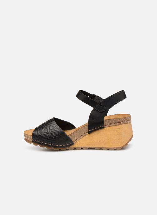 Sandalen Art Borne 1324 schwarz ansicht von vorne