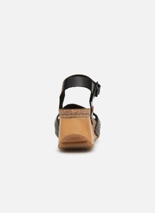 Sandalen Art Borne 1324 schwarz ansicht von rechts