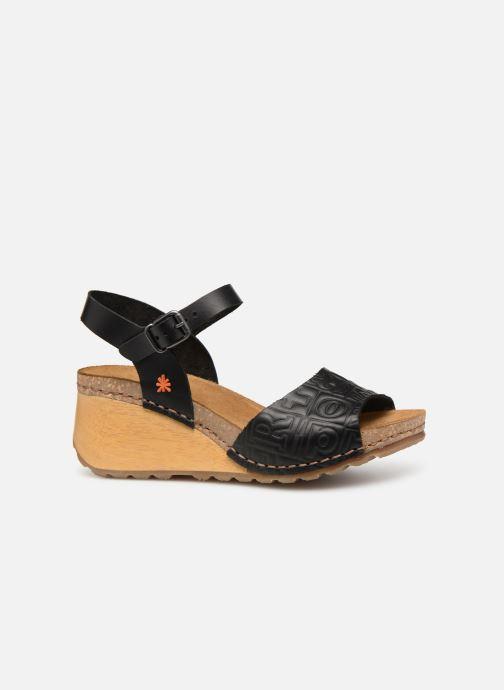 Sandalen Art Borne 1324 schwarz ansicht von hinten