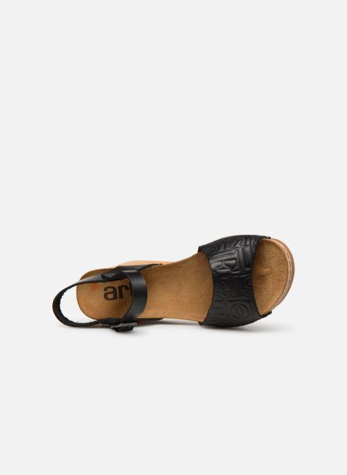 Sandalen Art Borne 1324 schwarz ansicht von links