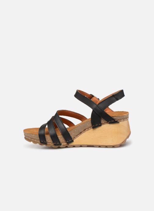 Sandales et nu-pieds Art Borne 1327 Noir vue face