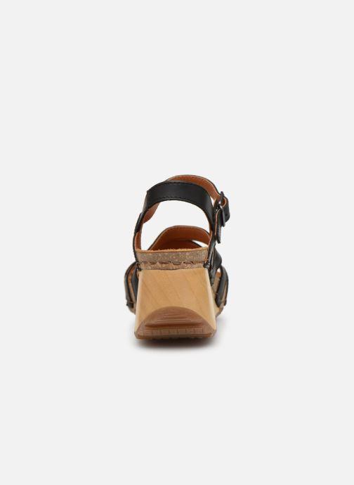 Sandales et nu-pieds Art Borne 1327 Noir vue droite