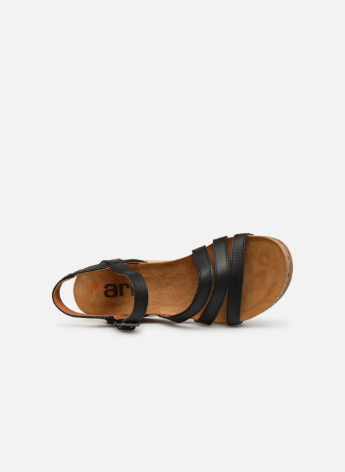 Sandales et nu-pieds Art Borne 1327 Noir vue gauche