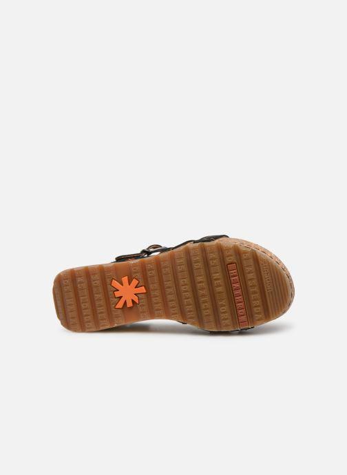 Sandales et nu-pieds Art Borne 1327 Noir vue haut