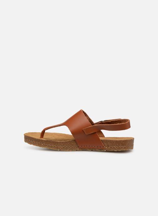 Sandales et nu-pieds Art Creta 1253 Marron vue face