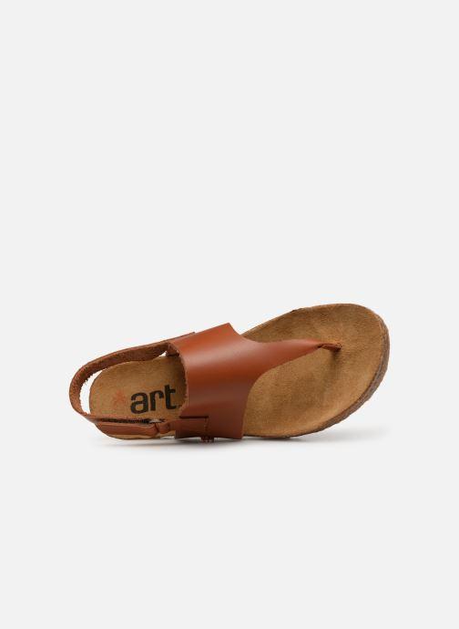 Sandales et nu-pieds Art Creta 1253 Marron vue gauche