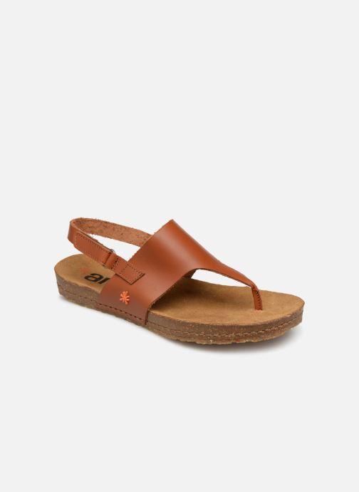 Sandals Art Creta 1253 Brown detailed view/ Pair view