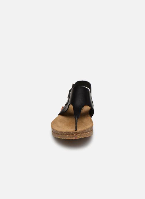 Sandalias Art Creta 1253 Negro vista del modelo