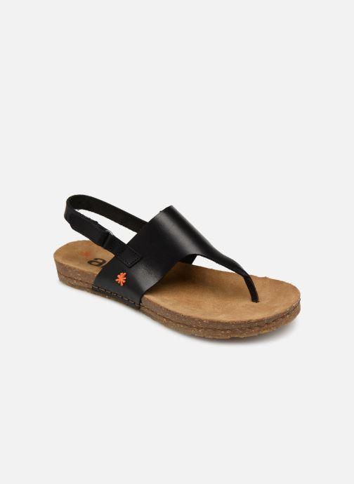 Sandals Art Creta 1253 Black detailed view/ Pair view