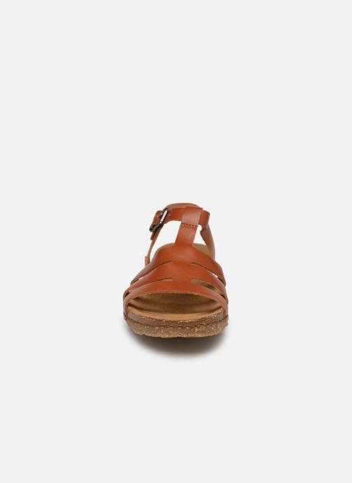 Sandales et nu-pieds Art Creta 1254 Marron vue portées chaussures