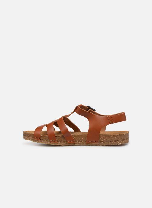 Sandales et nu-pieds Art Creta 1254 Marron vue face
