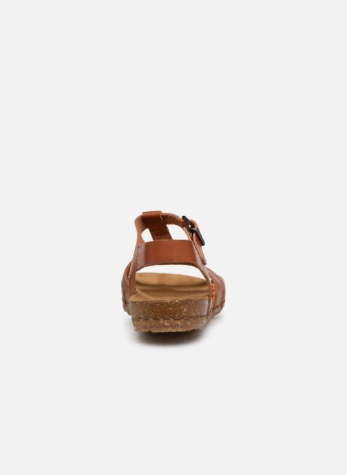 Sandales et nu-pieds Art Creta 1254 Marron vue droite