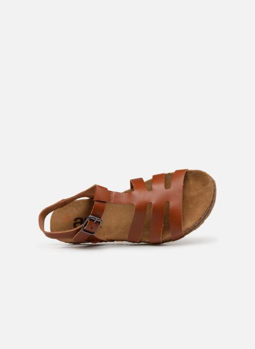 Sandales et nu-pieds Art Creta 1254 Marron vue gauche