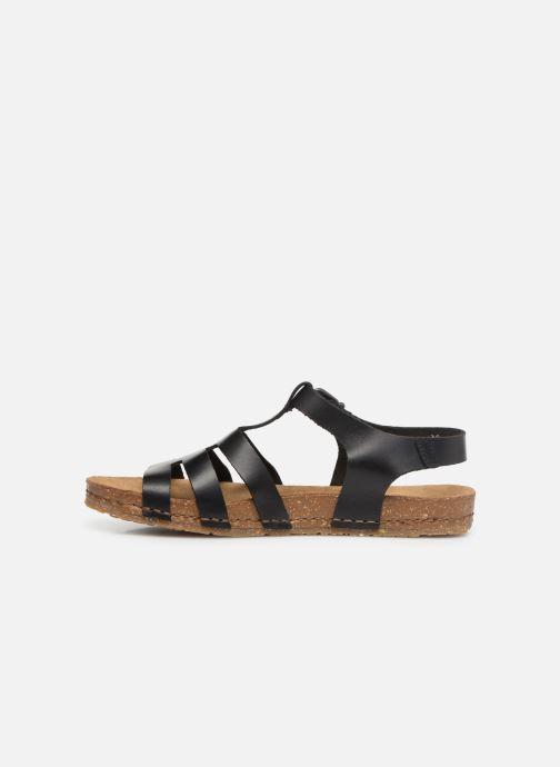 Sandales et nu-pieds Art Creta 1254 Noir vue face