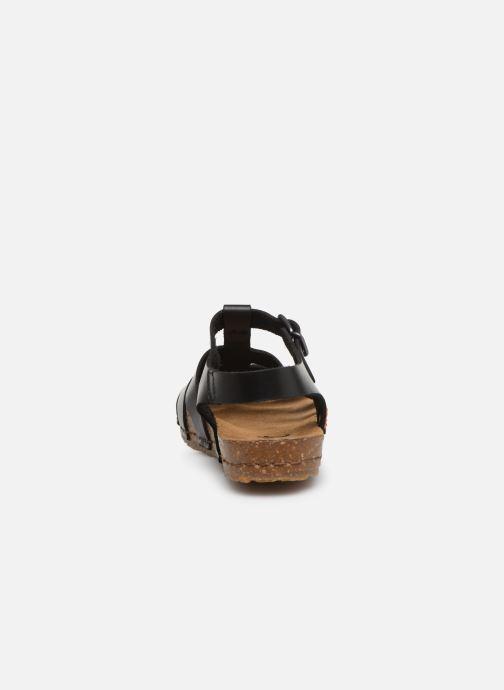 Sandales et nu-pieds Art Creta 1254 Noir vue droite