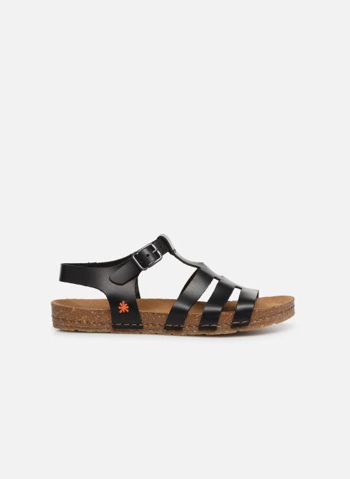 Sandales et nu-pieds Art Creta 1254 Noir vue derrière