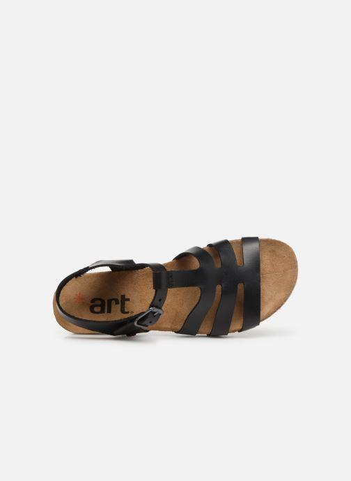 Sandales et nu-pieds Art Creta 1254 Noir vue gauche